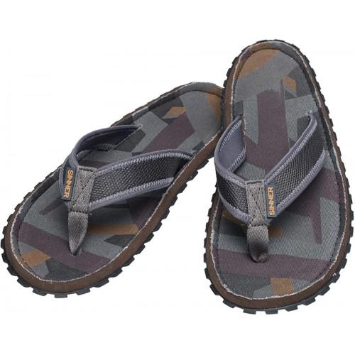 Sinner Beach Slaps III Flip Flops - Grey/Brown