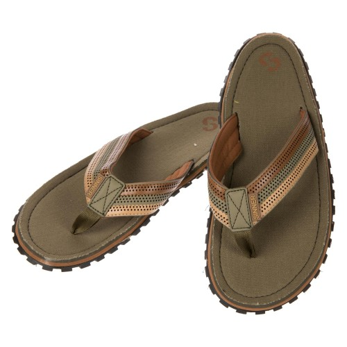 Sinner Beach Slaps III Flip Flops - Moss Green-Brown