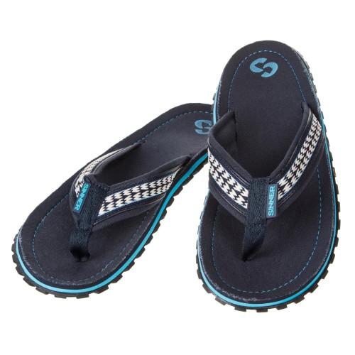 Sinner Flip Flop Dark Blue/White