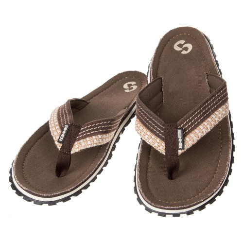 Sinner Flip Flops Brown/Off White