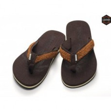Sinner Braided Flip Flops Brown Suede