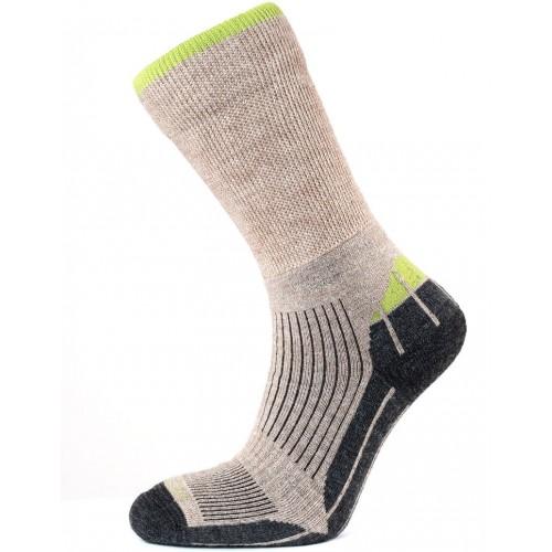 Horizon Merino Hiker Sock Natural/Apple