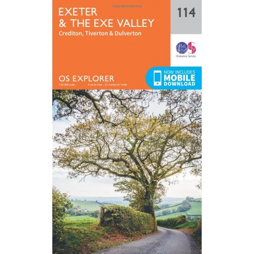 OS Explorer Map 114 Exeter and the Exe Valley
