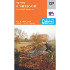 OS Explorer Map 129 Yeovil and Sherbourne
