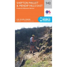 OS Explorer Map 142 Shepton Mallet and Mendip Hills East