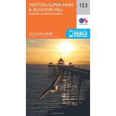 OS Explorer Map 153 Weston-Super-Mare and Bleadon Hill
