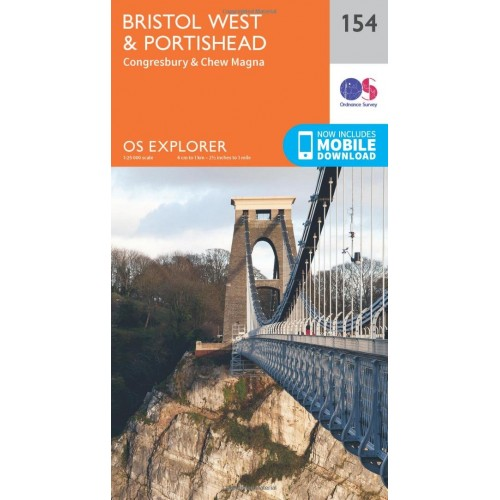 OS Explorer Map 154 Bristol West and Portishead