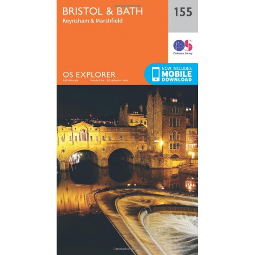 OS Explorer Map 155 Bristol and Bath