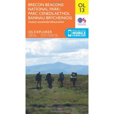 OS Explorer OL13 Brecon Beacons National Park - Eastern area