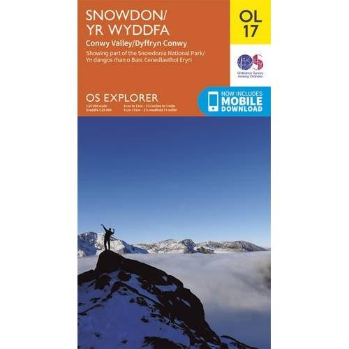 OS Explorer OL17 Snowdon & Conwy Valley