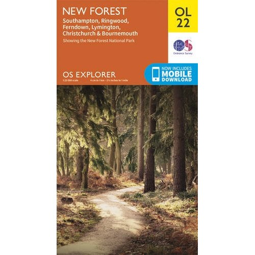 OS Explorer OL22 New Forest, Southampton