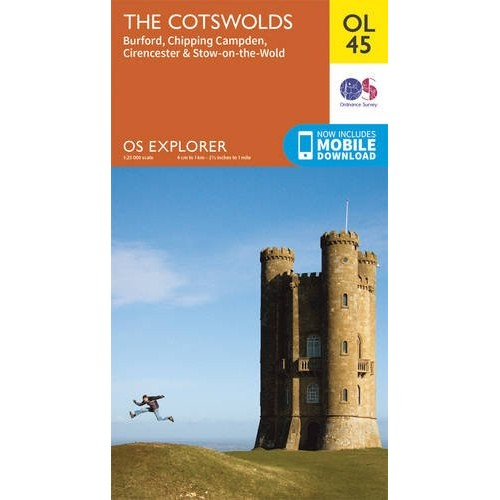 OS Explorer OL45 The Cotswolds