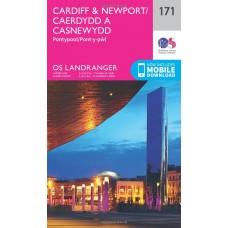 OS Landranger 171 Cardiff & Newport, Pontypool