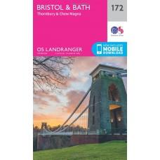 OS Landranger 172 Bristol & Bath, Thornbury & Chew Magna