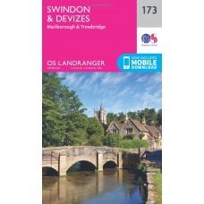 OS Landranger 173 Swindon, Devizes, Marlborough & Trowbridge