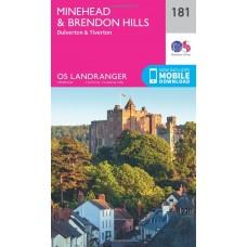OS Landranger 181 Minehead & Brendon Hills, Dulverton & Tiverton