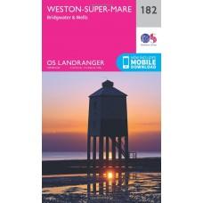 OS Landranger 182 Weston-super-Mare, Bridgwater & Wells