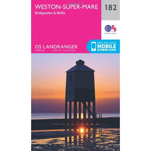 OS Landranger 182 Weston-super-Mare, Bridgwater & Wells