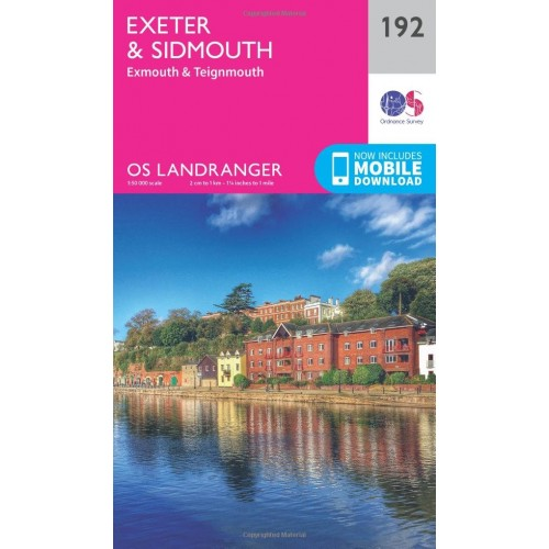 OS Landranger 192 Exeter & Sidmouth, Exmouth & Teignmouth