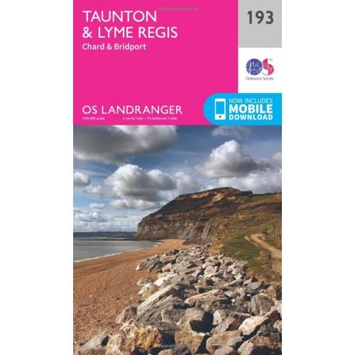 OS Landranger 193 Taunton & Lyme Regis, Chard & Bridport