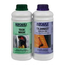 Nikwax Tech Wash + Tx Direct Wash In Twin Pack 1L