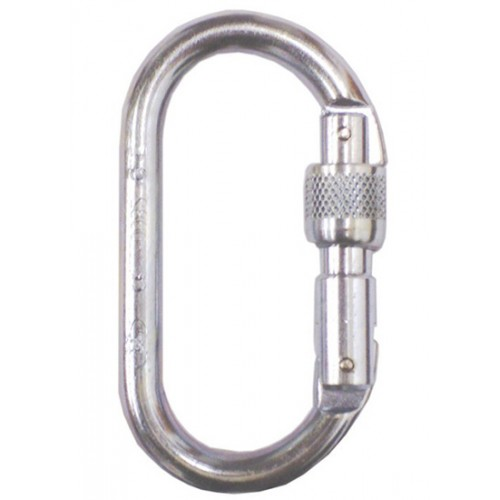 Foin 10mm Steel Oval ScrewGate Karabiner